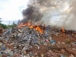 queima em lixão