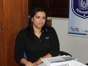 Delegada Sara Machado fala sobre alta de 57% no número de homicidios em Petrolina (Foto: Juliane Peixinho / G1)
